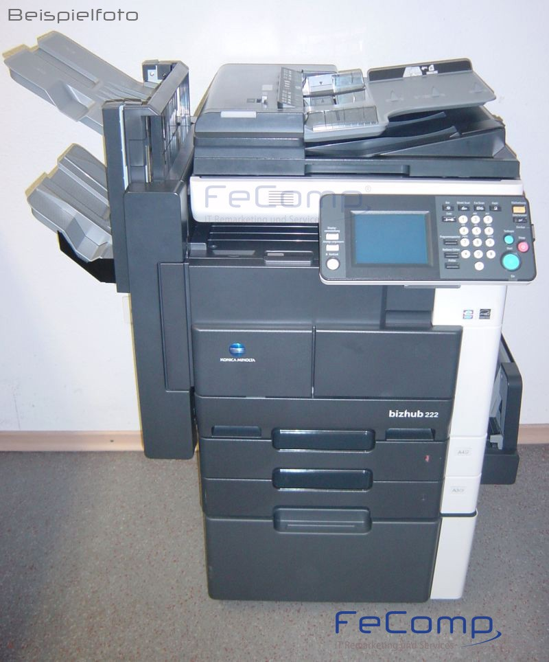 konica minolta bizhub 222 din a3 kopierer drucker scanner ma 589 ebay. Black Bedroom Furniture Sets. Home Design Ideas