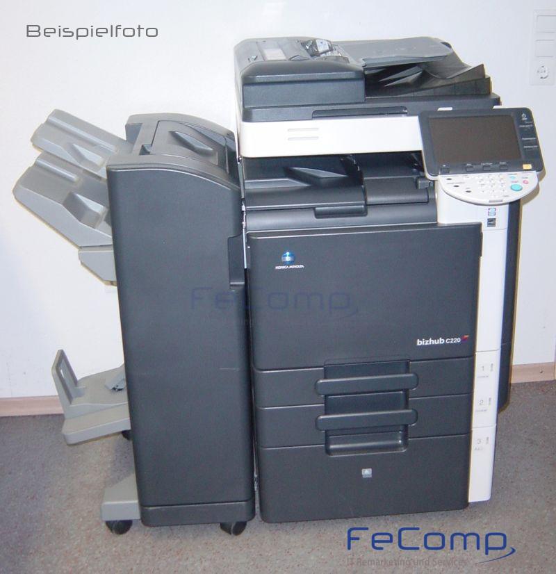 konica minolta bizhub c220 din a3 kopierer drucker scanner ma 819 ebay. Black Bedroom Furniture Sets. Home Design Ideas